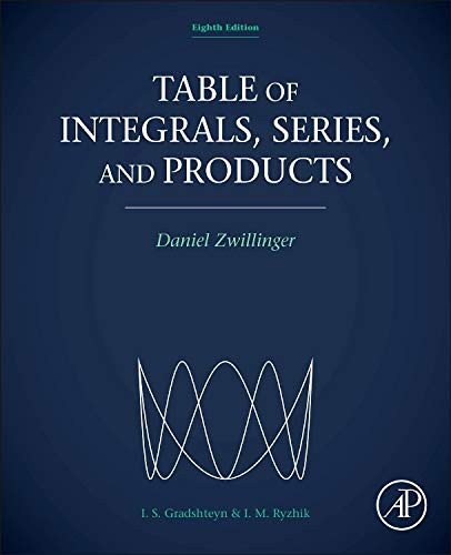 Table Of Integrals Series And Products