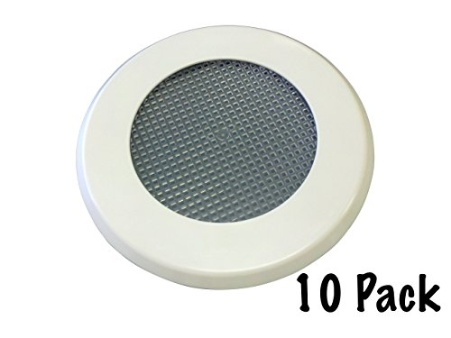 No Pest Recessed Light Cover Replacement Kit for Outdoor Ceiling Canned Lighting Fixtures - Includes Mounting Ring, Trim Plate and Screen- Keep Out Insects- Paintable - Made in the USA (10 Pack)