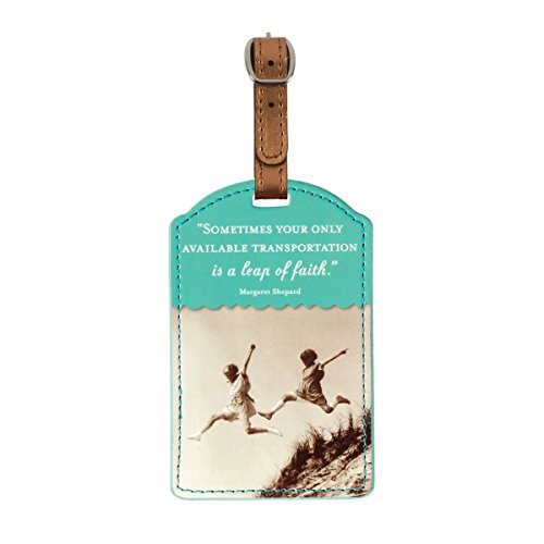 Shannon Martin Design Luggage Tag, Leap Of (Retro Luggage Tag)