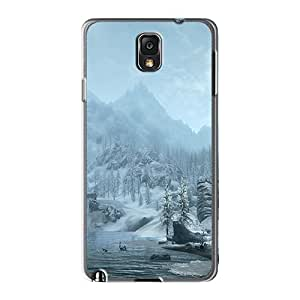 Protective Hard Phone Case For Samsung Galaxy Note 3 With Provide Private Custom High Resolution Skyrim Snowy Mountains Skin JohnPrimeauMaurice