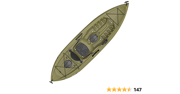 Lifetime Tamarack Angler Sit-On-Top Kayak, Olive, 120