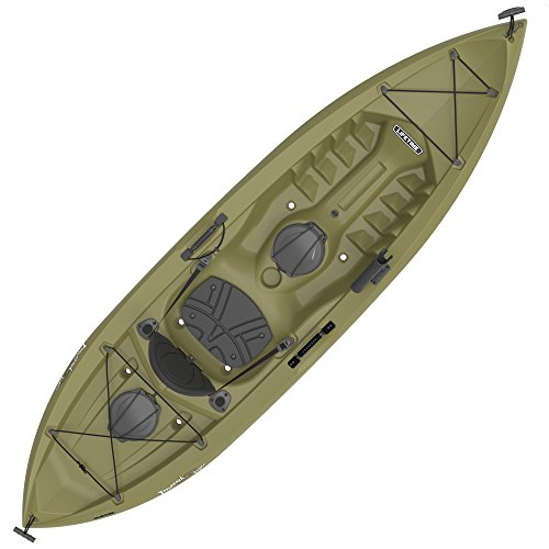 Lifetime Tamarack Angler Sit-On-Top Kayak, Olive, 120""