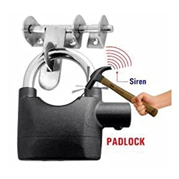 Waterproof Alarm Lock Siren Alarm Padlock for Motorcycle Long Beam Bike Bicycle