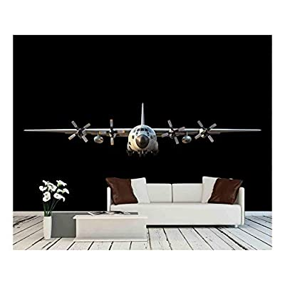 Incredible Portrait, Premium Creation, Military Transport Aircraft on Black Background