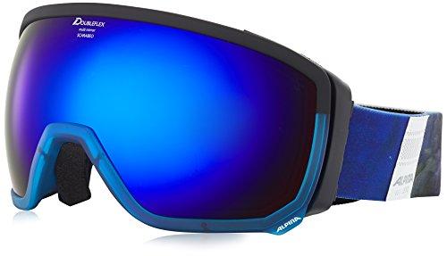 Alpina Lunettes de ski unisexe Scarabeo taille unique Trans. Blue-Black