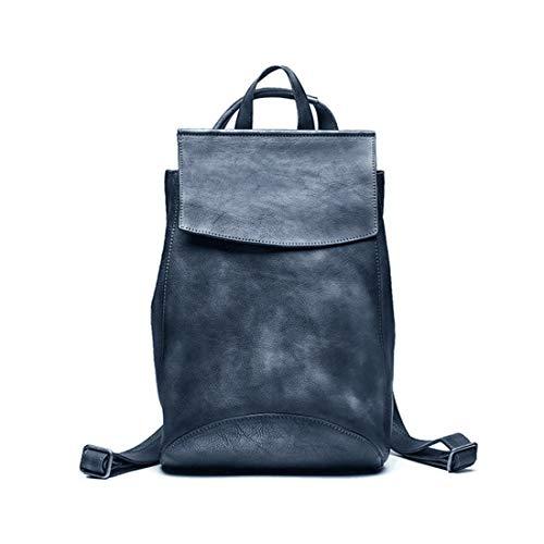 Dark Laptop Backpack Para Real School Daypack Vintage Kunliyin Gray Bookbag Hombres Yy1 Leather Handcrafted College Rucksack HXq76wF