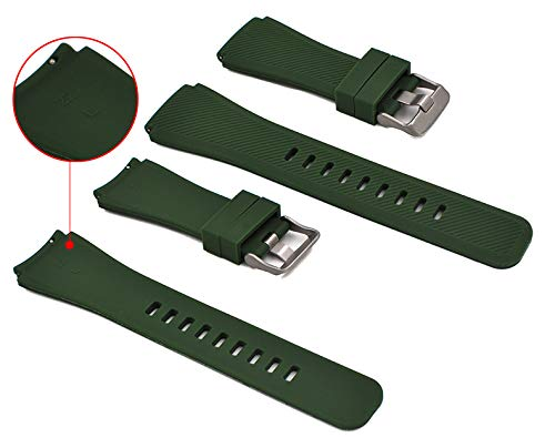 Jewh Smart Silicone Movement - Watchband for Gear S3 Classic/Frontier Watch Band - Sports Strap Replacement - Bracelet Samsung Gear S3 - Samsung Colorful Bracelet(Army (Army Band Bracelet)