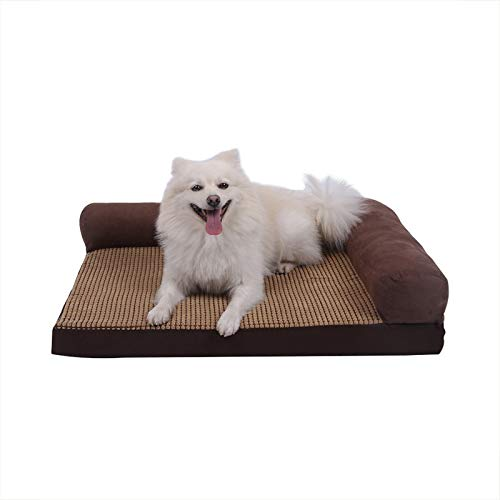 M(8060cm) Young17 Pet Sleeping Mat Winter Kennel Labrador Removable And Washable Medium Large Dog Comfortable Multi-function golden Wool Warm Sleeping Mat (Size   M(80  60cm))