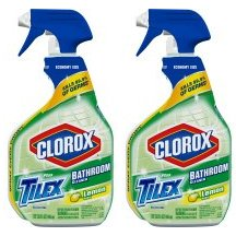 Tilex Clorox Plus Bathroom Cleaner, Spray Bottle, Lemon Scent, 32 Ounces (Pack of 2) (Packaging May Vary)