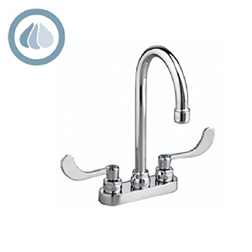American Standard 7502.170.002 Monterrey Centerset Gooseneck Lavatory Faucet with Grid Drain, Chrome