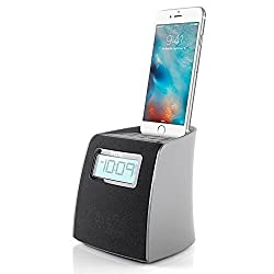 iHome iPL22 Stereo FM Clock Radio with Lightning Dock Charge/Play for iPhone 6 5/5S (Black)