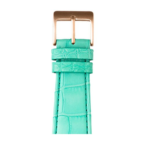 Roobaya | Premium Alligator Leather Apple Watch Band in Turquoise | Includes Adapters matching the Color of the Apple Watch, Case Color:Rose Gold Aluminum, Size:38 mm by Roobaya