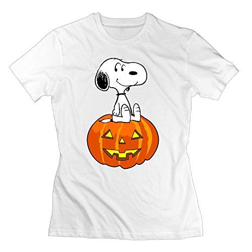 MAT Q VO Women's Halloween Pumpkin Snoopyy T Shirts/Tee]()