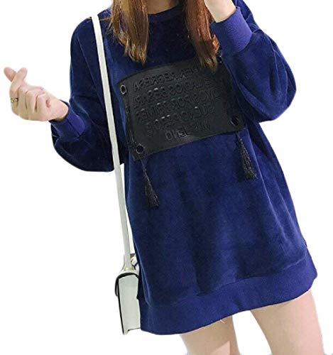 Size Donna Navy Da Con Splicing Pile Gapsonic Medio Felpe Blue Plus Lunghezza In qwHPI1nvxO