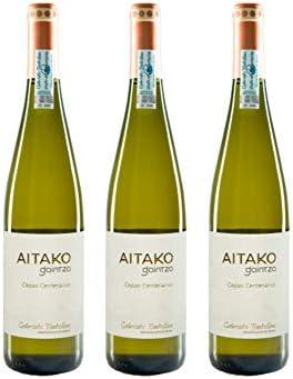 Txakoli AITAKO Gaintza, vendimia 2018, caja de 3 botellas, denominación de origen Getariako Txakolina - Txakolí de Getaria