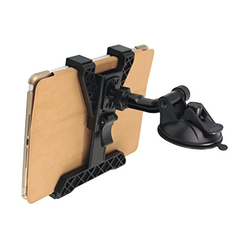 Tablet Holder for Car Universal Dashboard Tablet Mount Holder Automobile Dash Mount 360 Degree Rotation for iPad Mini 4 3 2 1 Samsung Tablet PC size 7 --9.7 inch Sucker TPU Plus Sticky PU