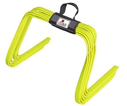 inkl 30 cm RHINOS sports Steckh/ürdenset 4 Trainingsstangen 8 Multifunktionskegel 1 m