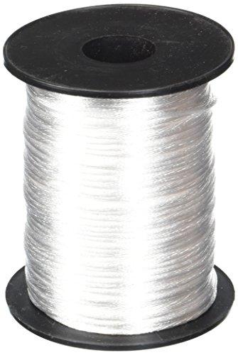 - White 1.5mm x 100 yards Rattail Satin Nylon Trim Cord Chinese Knot