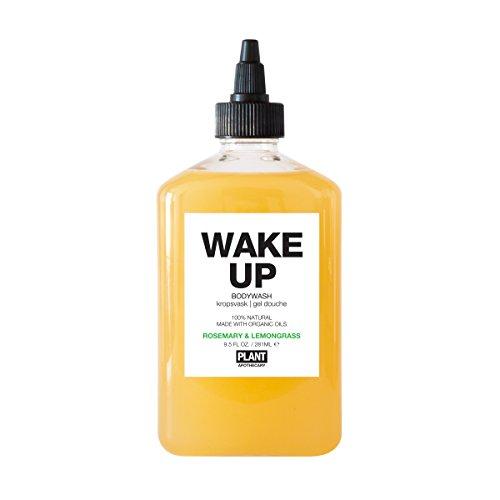 PLANT Apothecary Wake Up Botanical Aromatherapy Body Wash - USDA Organic Rosemary & Lemongrass Essential Oils - For Unisex - 9.5 oz Body Wash ()