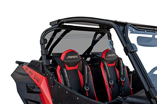 (SuperATV Heavy Duty Non-Scratch Resistant Clear Rear Windshield for Polaris RZR XP Turbo S Model/XP Turbo S4 (2018+) - 250X Stronger Than Glass!)