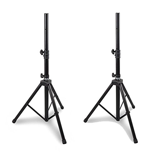 (Pyle Pro Adjustable Extending Height Tripod Speaker Stand Holder Mount, 2-Pack)