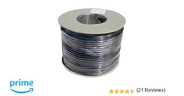 Webro - Cable coaxial (50 m, RG6, digital, para antena y televisión por satélite), color negro: Amazon.es: Electrónica