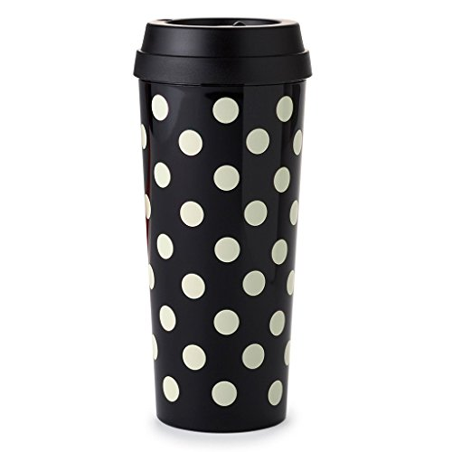 Kate Spade New York (143945) Thermal Mug, Le Pavilion (black Dots), , Black Deco Dots (Black Spade Thermal)