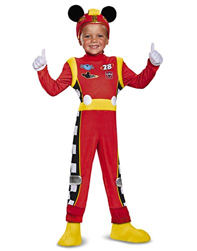 Mickey Roadster Deluxe Toddler Costume, Multicolor, Small (2T) ()