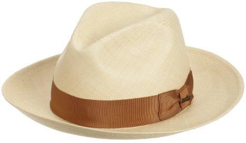 Christys' of London Men's Pinch Front Panama Straw Safari Hat,Natural,X-Large