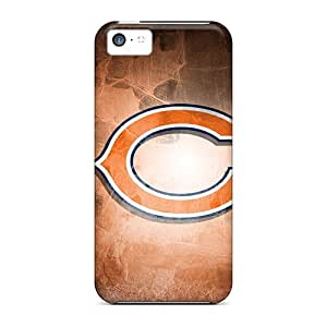 KennethKaczmarek Iphone 5c Anti-Scratch Hard Phone Cases Allow Personal Design Realistic Chicago Bears Skin [dLP16468zIes]