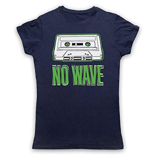 No Wave Art Scene Camiseta para Mujer azul marino