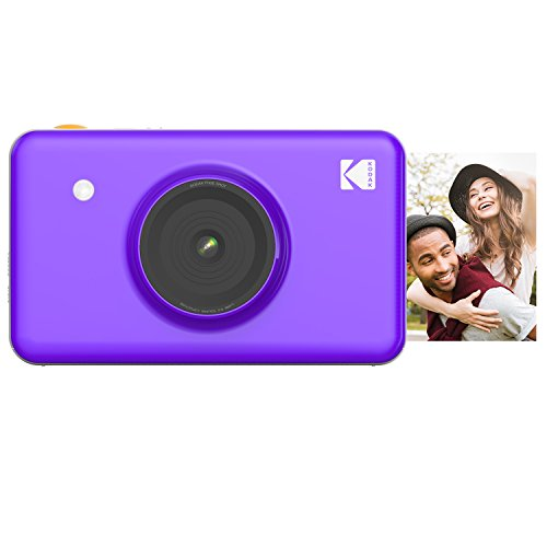 - Kodak Mini Shot Wireless Instant Digital Camera & Social Media Portable Photo Printer, LCD Display, Premium Quality Full Color Prints, Compatible w/iOS & Android (Purple)