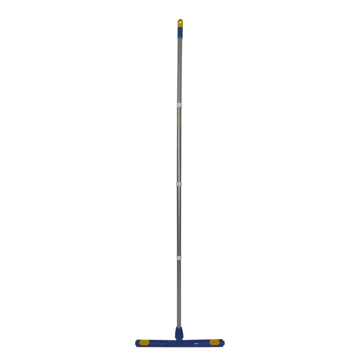 CleanAid FLEX-45 Regleta de Goma para Suelo , Limpieza de Agua Higiénica , Palo Extralargo 160 cm, Ancho 45 cm , Ligera Estable