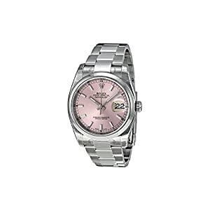 Rolex Datejust Automatic Pink Dial Stainless Steel Ladies Watch 116200PSO