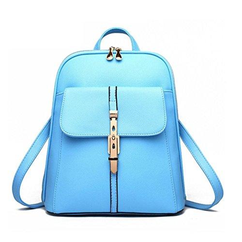 XibeiTrade - Bolso mochila  de Material Sintético para mujer azul