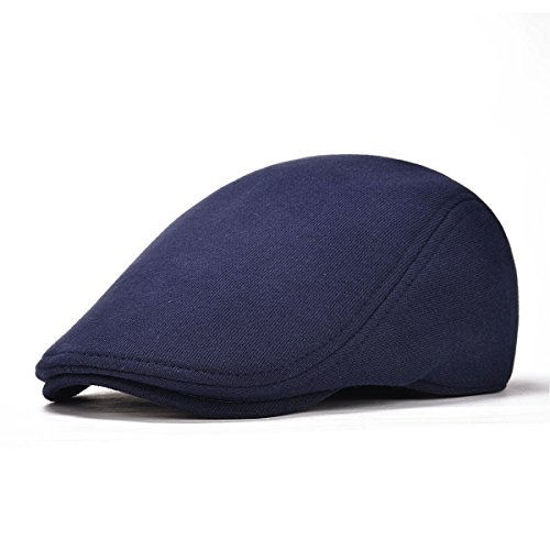 (VOBOOM Men's Cotton Flat Ivy Gatsby Newsboy Driving Hat Cap (Style2-Navy))