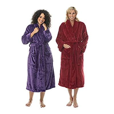 734b9678ce Comfy Robes Personalized Women s Tahoe Microfleece Shawl Collar ...