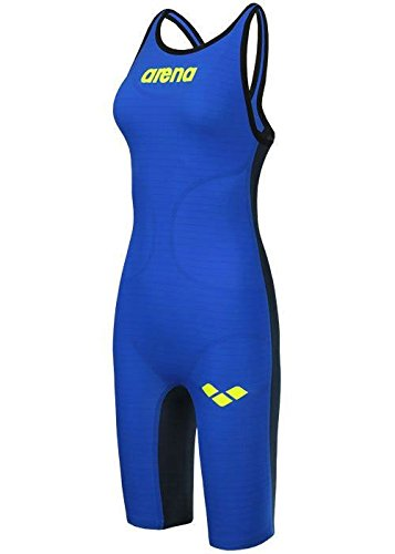 Arena Powerskin Carbon Air Ladies Full Body Short Leg Open Back, Blue, 30in