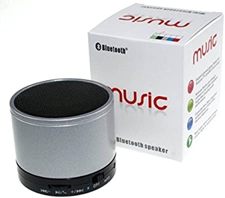 Solitude White S10 Portable Hand Held Mini 06 Bluetooth Mobile/Tablet Speaker  Mono Channel   Silver  Bluetooth Speakers