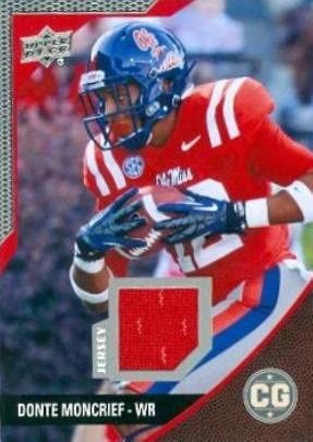 Donte Moncrief player worn jersey patch football card (Ole Miss ...