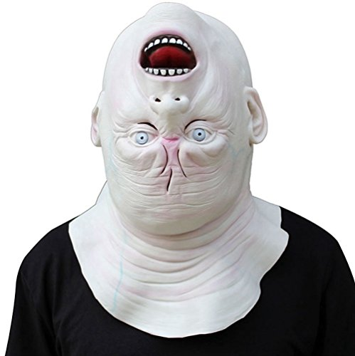 Terrorble Halloween Upside Down Ghost Mask Creepy Grimace Latex Mask