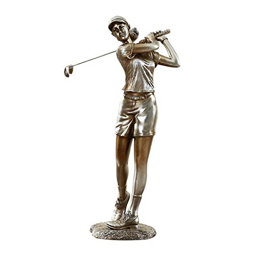 Sculpture Decoration Golfer Character Statue Retro Resin Home Creative Decoration Study Room Decoration Gift (Two Sets) LQX (Size : S)