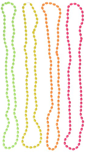 Neon Bead Necklace, Party Accessory (Mardi Gras Beads For Sale In Bulk)