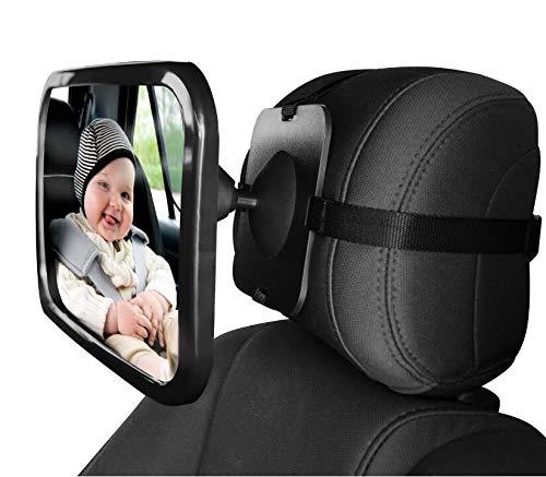 Miroir Voiture B/éb/é Retroviseur de Surveillance Pour Si/ège Arri/ère Rotation 360/°Fonction dInclinaison Miroir Auto B/éb/é en S/écurit/é