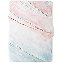 Leminimo Slim Fit Smart Marble Case for Kindle Paperwhite with Auto Sleep/Wake for All-New Amazon Kindle Paperwhite (Fits 2012, 2013, 2015, 2016 Versions with Built-in Light) (Pink Marble)
