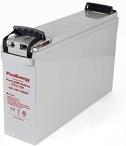 Plusenergy wccsolar Batería Solar 12v Ciclo Profundo AGM 100Ah Solar Fotovoltaica con terminales (AGM 150A)