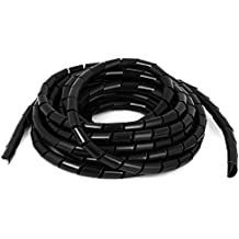 uxcell Flexible Spiral Tube Wrap Cable Wire Organizer 12mm Dia 6.5m Black