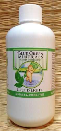 Blue Green Minerals with Calcium and Magnesium 8 oz Bottle – Multi Mineral Supplement