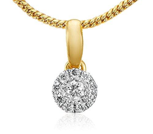 Senco Gold 14KT Yellow Gold and Diamond Pendant for Women