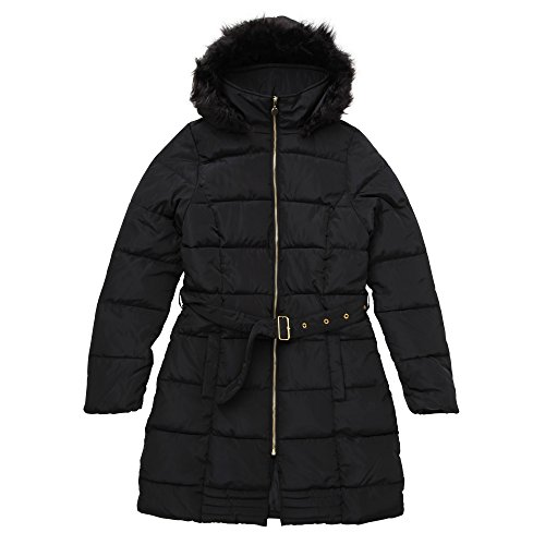 Soul Padded Fur With Puffa Womens Dunn Jacket Brave Ladies Faux Collar Black HwzSdSq